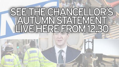 Watch the Chancellor's Autumn Statement live on the Mirror from 12.30
