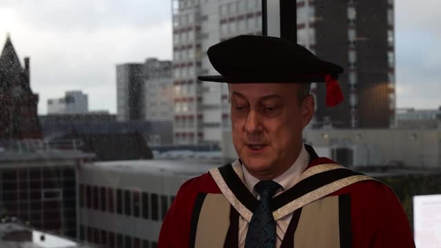 Video: Honorary degree from Teesside University for Stephen Tompkinson