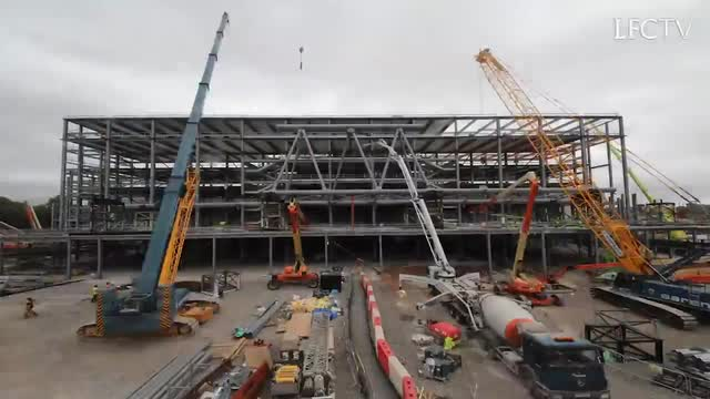 Liverpool FC main stand development time lapse