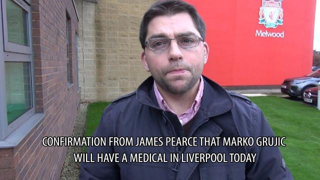 Confirmation from James Pearce that Marko Grujic will have a medical in Liverpool today