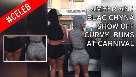 Blac Chyna and Amber Rose show off curvy behinds at Trinidad Carnival