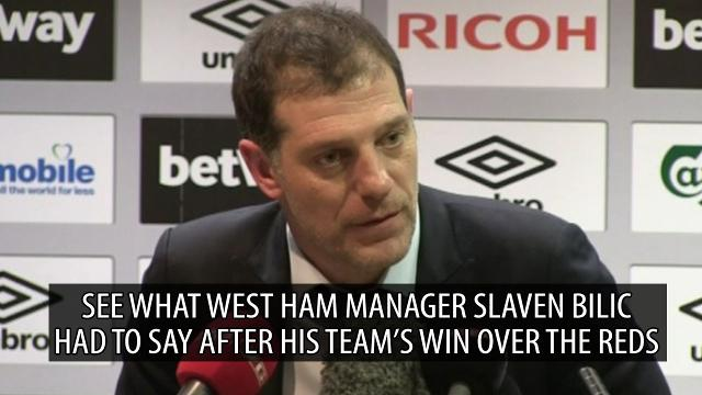 West Ham 2-1 Liverpool: Slaven Bilic praises special win over the Reds