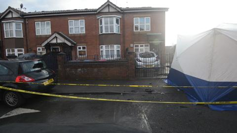 Watch: Scene of Salford car explosion morning after