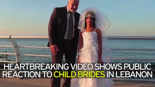 Heartbreaking video shows public reaction to child brides in Lebanon