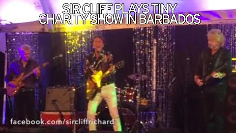 Sir Cliff Richard sings for The Jenna Trust charity in Barbados