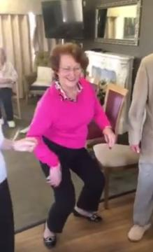 Ormskirk care home residents dance along to Elvis