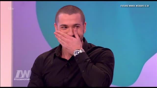 Loose Women: Shayne Ward squirms when questioned about being caught sneaking out of Michelle Mone's house