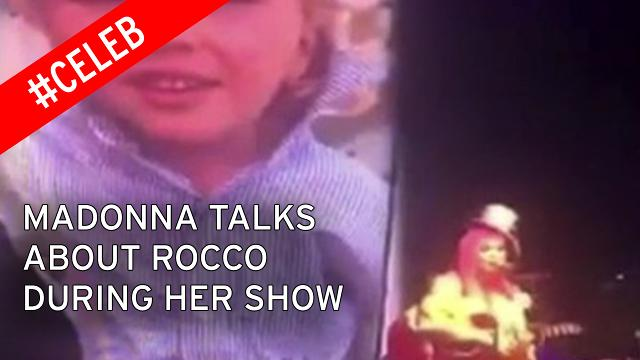 Madonna talks about Rocco during her show