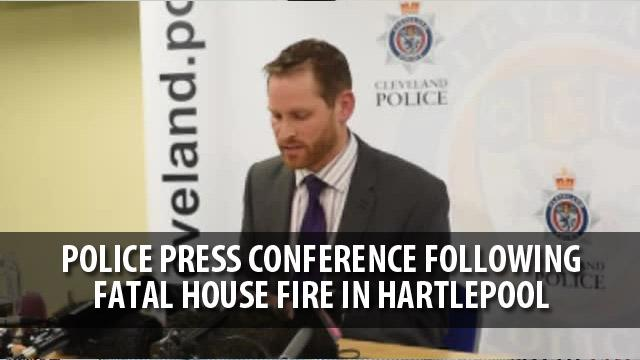 Police press conference on Westbourne Road fire in Hartlepool