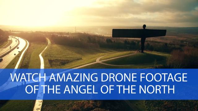 Watch amazing drone footage of The Angel of the North