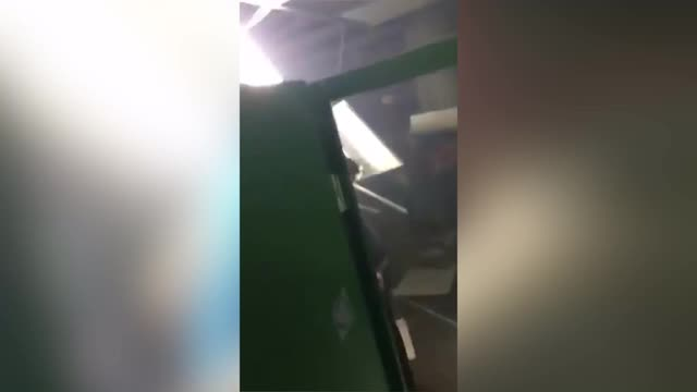 Video: Rangers fans' trash Celtic Park toilets following club's old firm defeat on Saturday