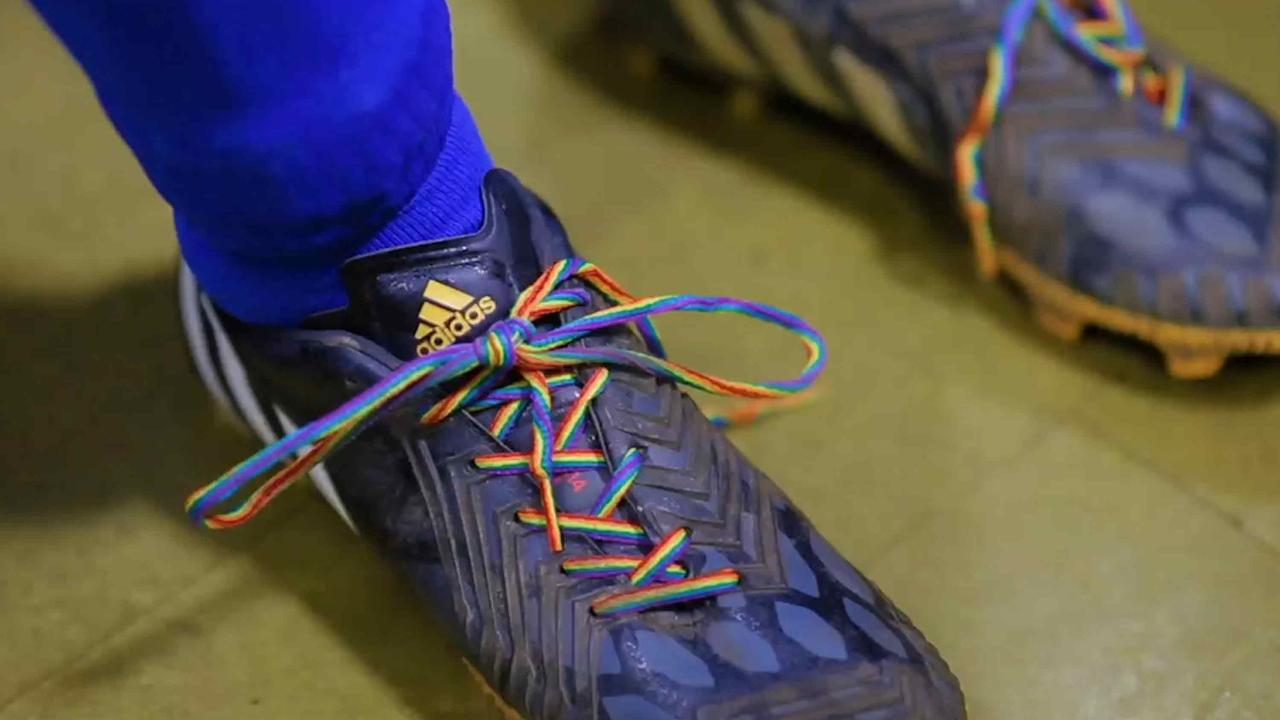 Video thumbnail, Stonewall video promoting 'Rainbow laces' campaign to promote tolerance of LGBT fans and players