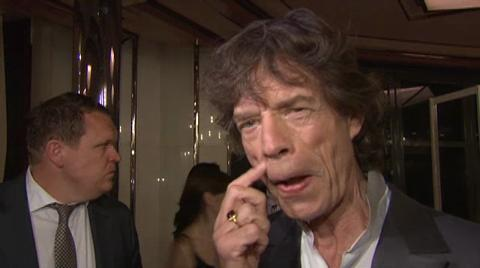 Mick Jagger has arrived