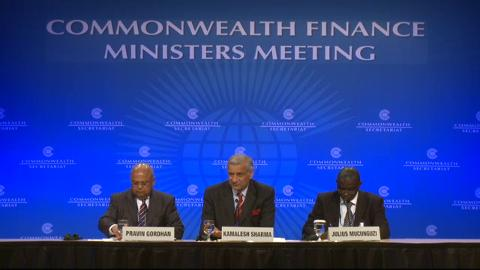Commonwealth Finance Ministers Press Conference
