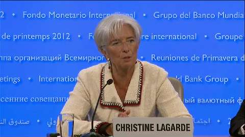 2012 Spring Meetings Opening Press Briefing by IMF Managing Director Christine Lagarde