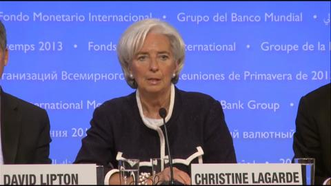 French: Press Briefing: IMF Managing Director Christine Lagarde