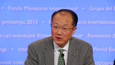World Bank Group Presidentn Jim Yong Kim Opens 2013 Spring Meetings