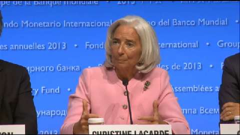 French: Press Conference: IMF Managing Director Christine Lagarde