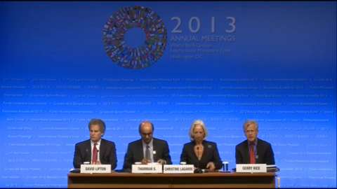 Arabic: Press Briefing: IMFC Chair Tharman Shanmugaratnam and IMF Managing Director Christine Lagarde