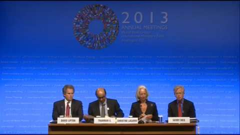 Press Briefing: IMFC Chair Tharman Shanmugaratnam and IMF Managing Director Christine Lagarde