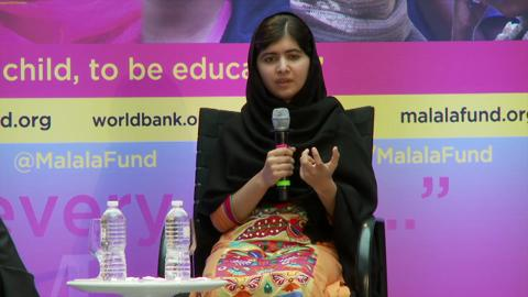 Malala Yousafzai, the Girl Who Survived a Taliban Attack, Speaks with Jim Kim about Girls' Education