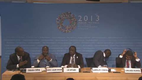 Portuguese: African Finance Ministers Press Conference