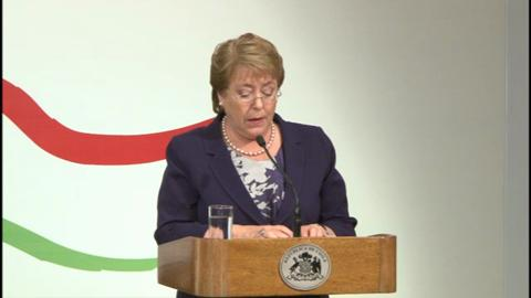 SPANISH: Santiago High-Level Conference – Opening Remarks by President Bachelet