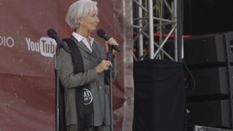 Lagarde Speaks at Global Citizen 2015 Earth Day Concert