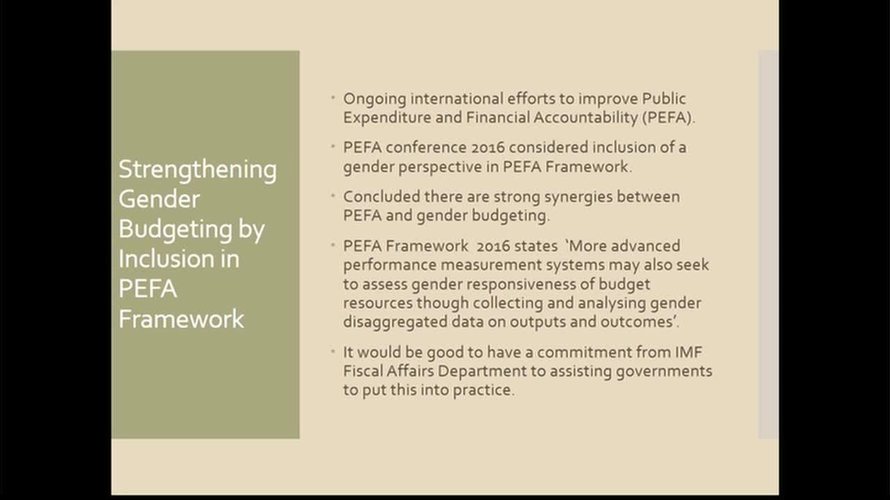 Keynote: The Origins and Future of Gender Budgeting