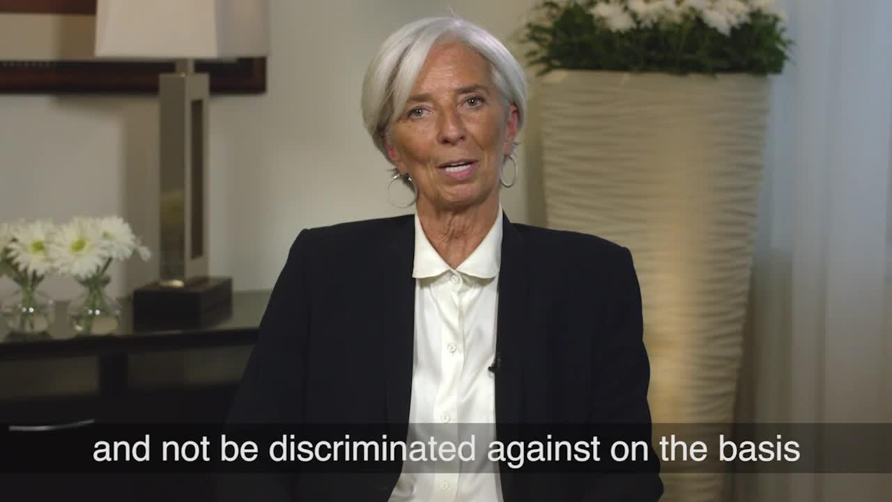 Managing Director Christine Lagarde Message for International Women's Day 2017