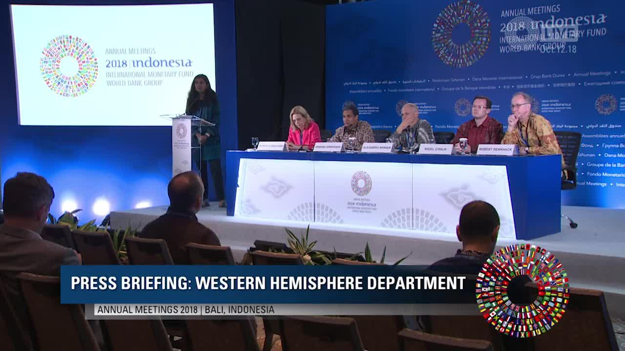 Press Briefing: Western Hemisphere Department