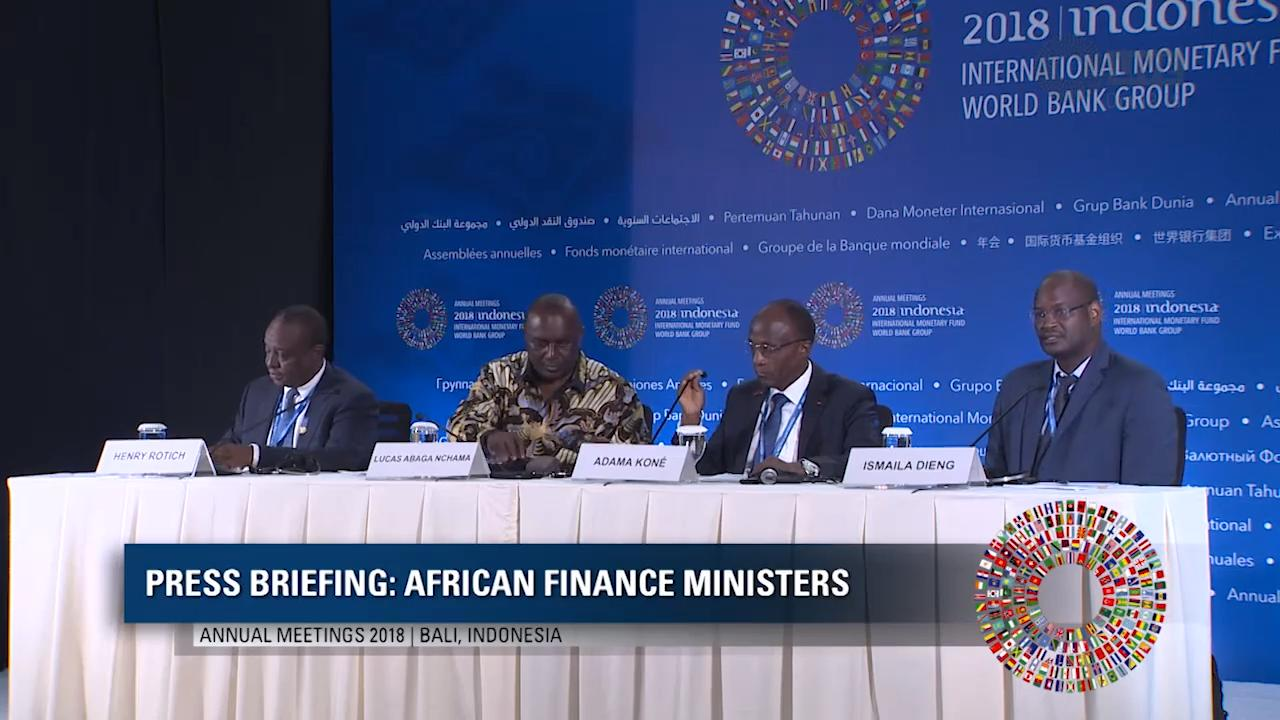 Arabic: Press Briefing - African Finance Ministers
