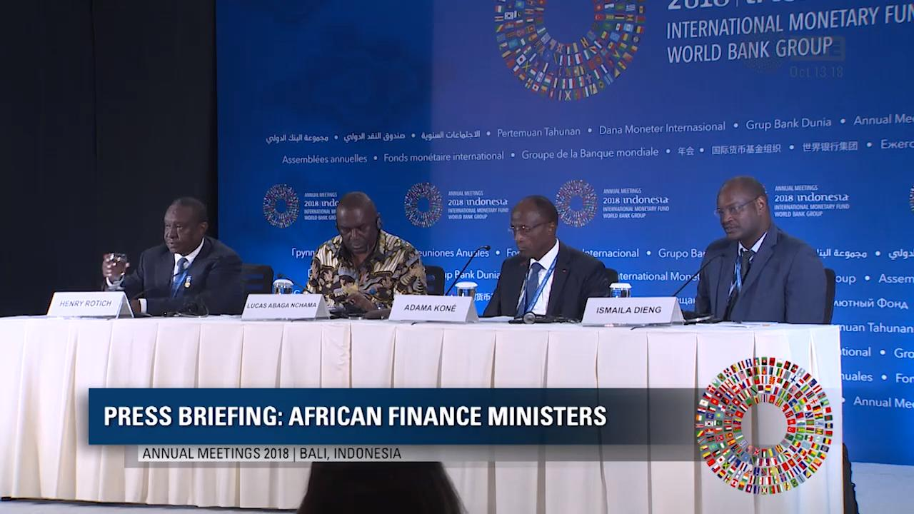 Portuguese: Press Briefing - African Finance Ministers