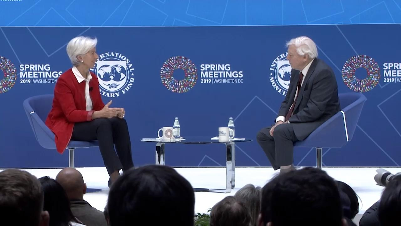 Balancing Nature and the Global Economy: One-on-One with Christine Lagarde, featuring Sir David Attenborough