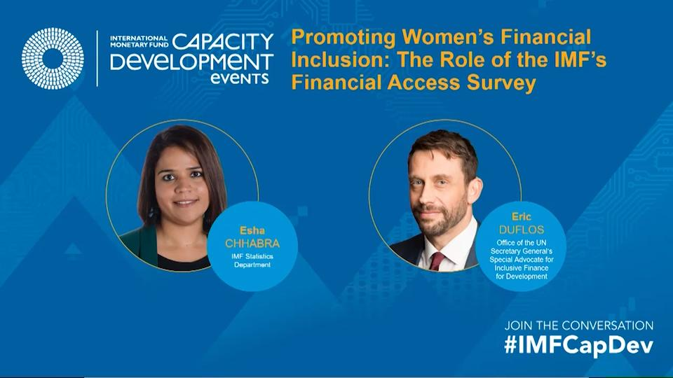 Capacity Development: Promoting Women's Financial Inclusion: The Role of the IMF's Financial Access Survey