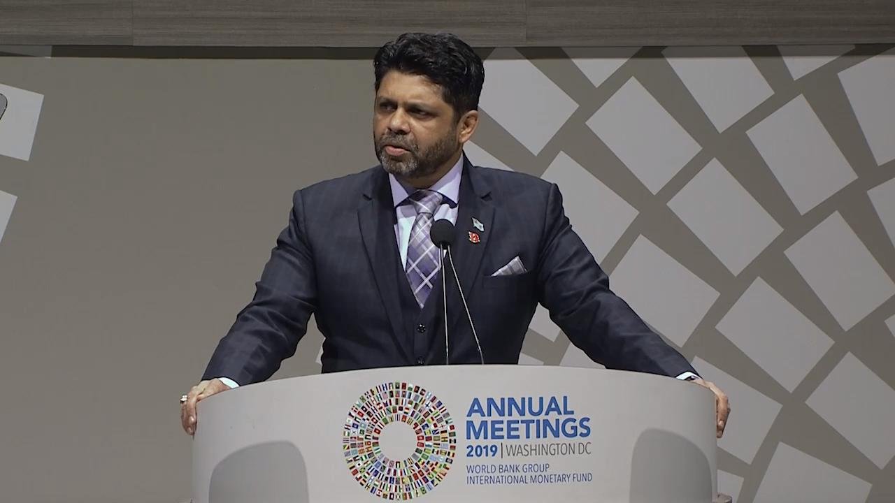 Speech by the 2019 Annual Meetings Chair Aiyaz Sayed-Khaiyum, Minister for the Economy, Republic of Fiji
