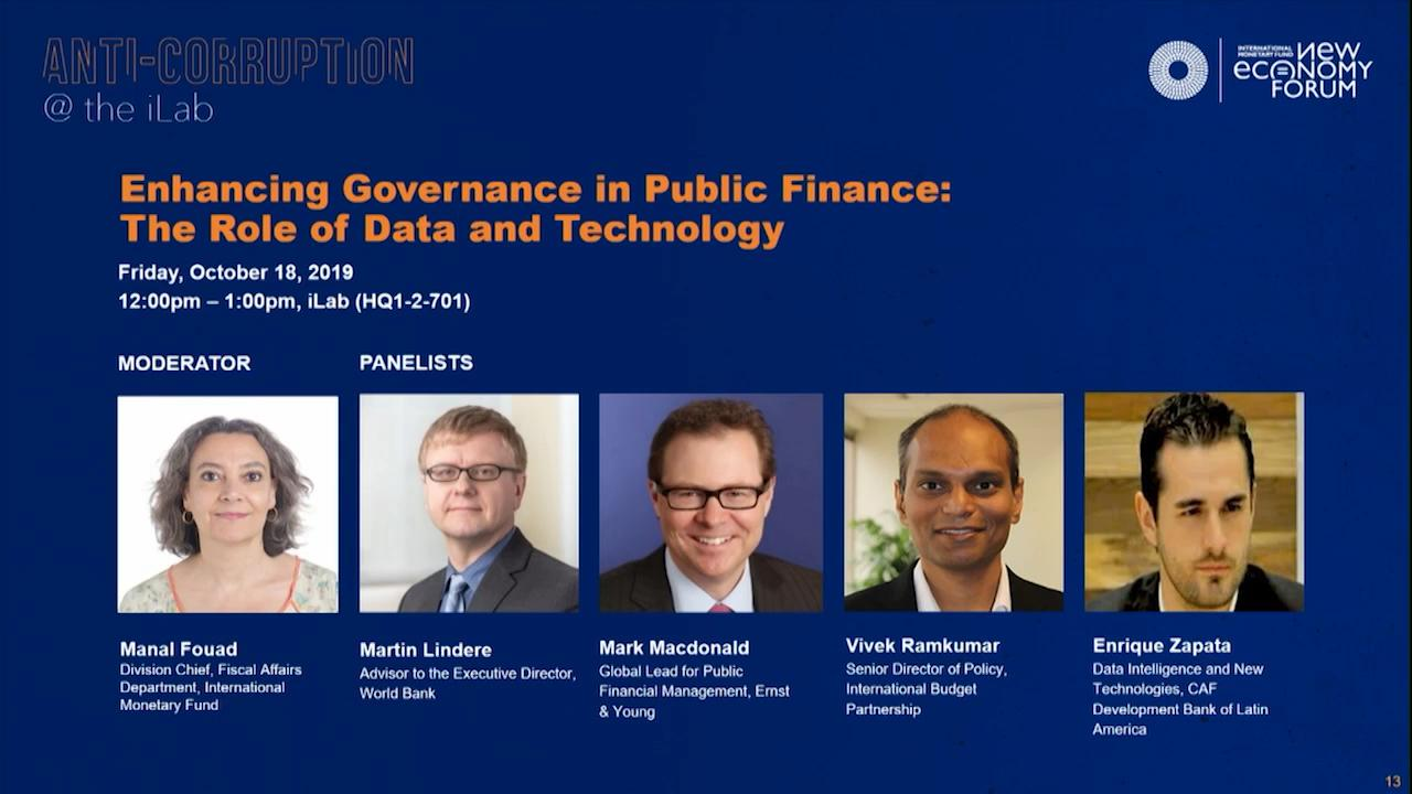 Corruption Challenge: Enhancing Governance in Public Finance - The Role of Data and Technology