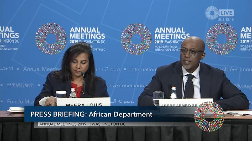 Press Briefing: Regional Economic Outlook: Sub-Saharan Africa, October 2019
