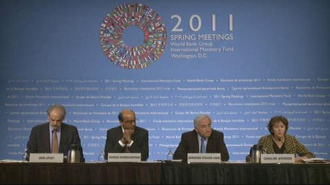 Press Briefing: IMFC Chair Tharman Shanmugaratnam and IMF Managing Director Dominique Strauss-Kahn