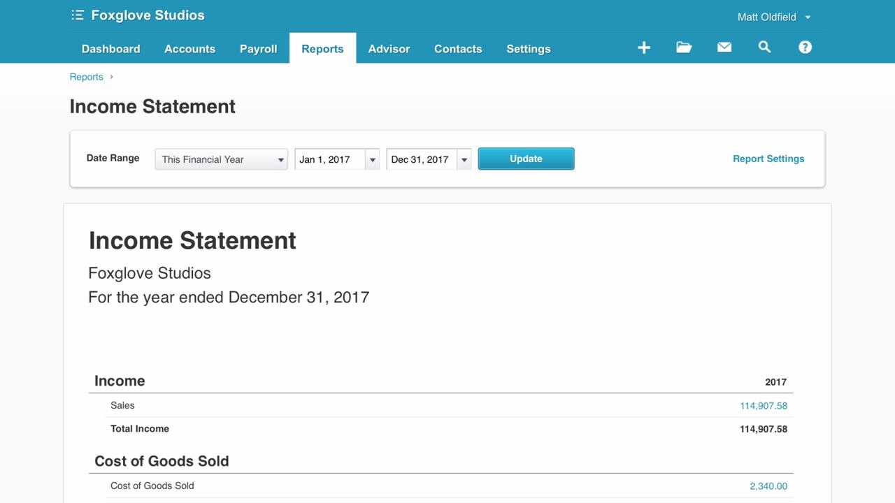 The Profit and Loss report in Xero Featured Xero TV – Profit and Loss Report Sample