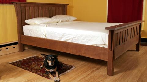 build a missionstyle bed  finewoodworking, Headboard designs