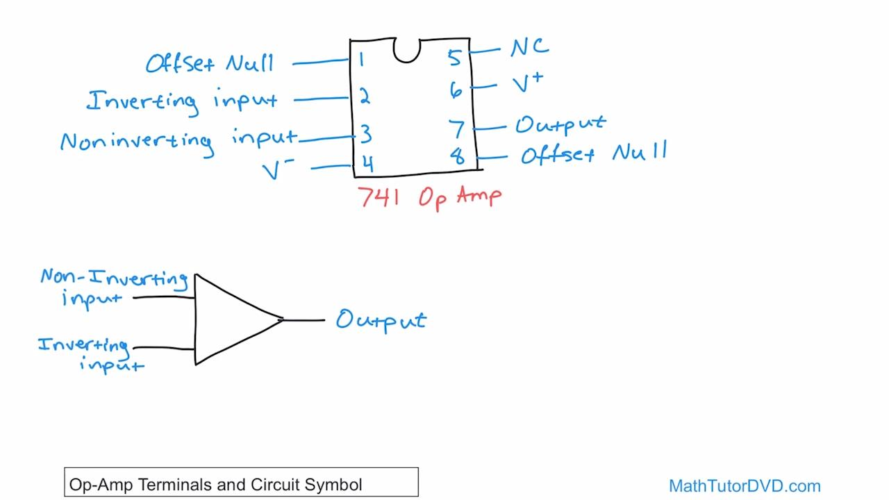 Ee Circuit Analysis Vol 6 Lesson 02 Op Amp Terminals And