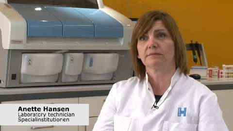Laboratory technician Anette Hansen discusses how her lab uses the Thermo Scientific Indiko Plus clinical and specialty chemistry system for drug of abuse analysis.