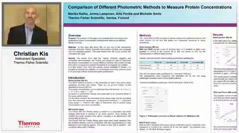 The purpose of this paper is to evaluate three commonly used photometric protein concentration measurement methods on different sample volumes.