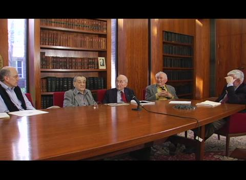Interviews of Past President Panel 2008:  Anthony DeMaria, Joseph Eberly, Boris Stoicheff, Emil Wolf -  interviewed by Paul Kelley Part 2 of 4
