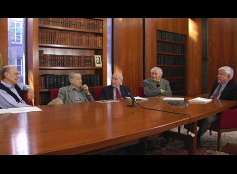 Interviews of Past President Panel 2008:  Anthony DeMaria, Joseph Eberly, Boris Stoicheff, Emil Wolf -  interviewed by Paul Kelley  Part 1 of 4