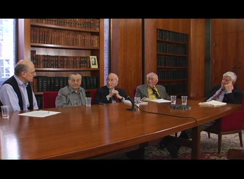 Interviews of Past President Panel 2008:  Anthony DeMaria, Joseph Eberly, Boris Stoicheff, Emil Wolf -  interviewed by Paul Kelley Part 3 of 4