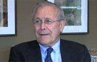 Donald Rumsfeld Speaks to Military.com