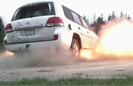 Armored Landcruiser Blast Test