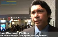 Lou Diamond Phillips Accepts GI Film Award